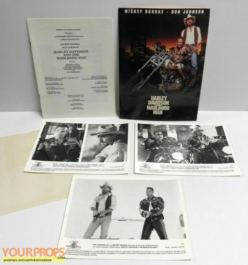 Harley Davidson and The Marlboro Man original production material