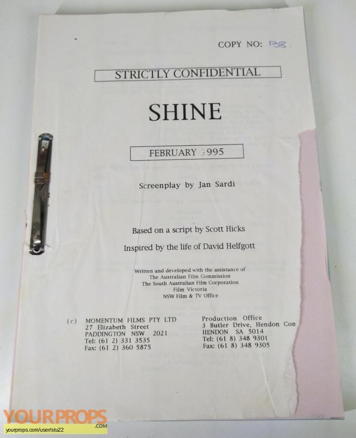 Shine original production material