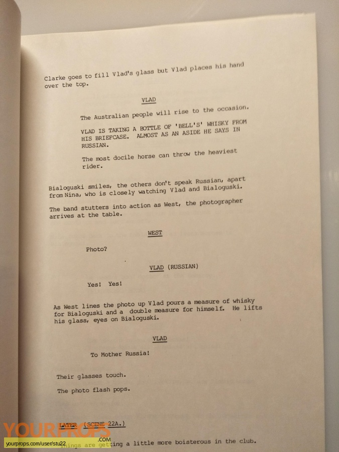The Petrov Affair (TV Mini-Series) original production material