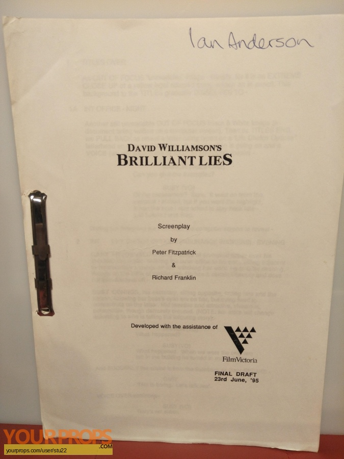 Brilliant Lies original production material