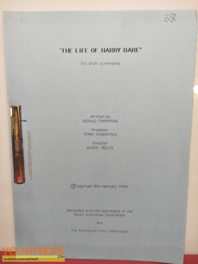 The Life of Harry Dare original production material