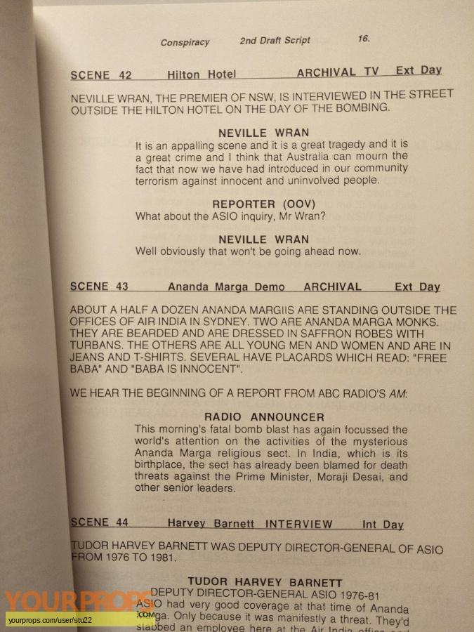True Stories TV Series (1994  ) original production material