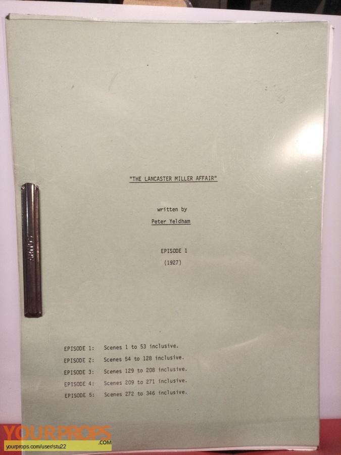 The Lancaster Miller Affair (TV Mini-Series) original production material