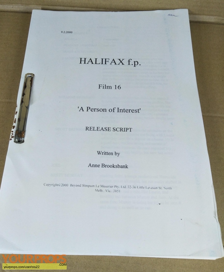 Halifax f p   (1994 2001) original production material