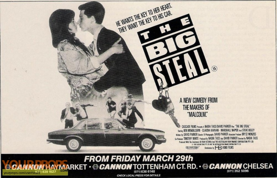 The Big Steal original production material