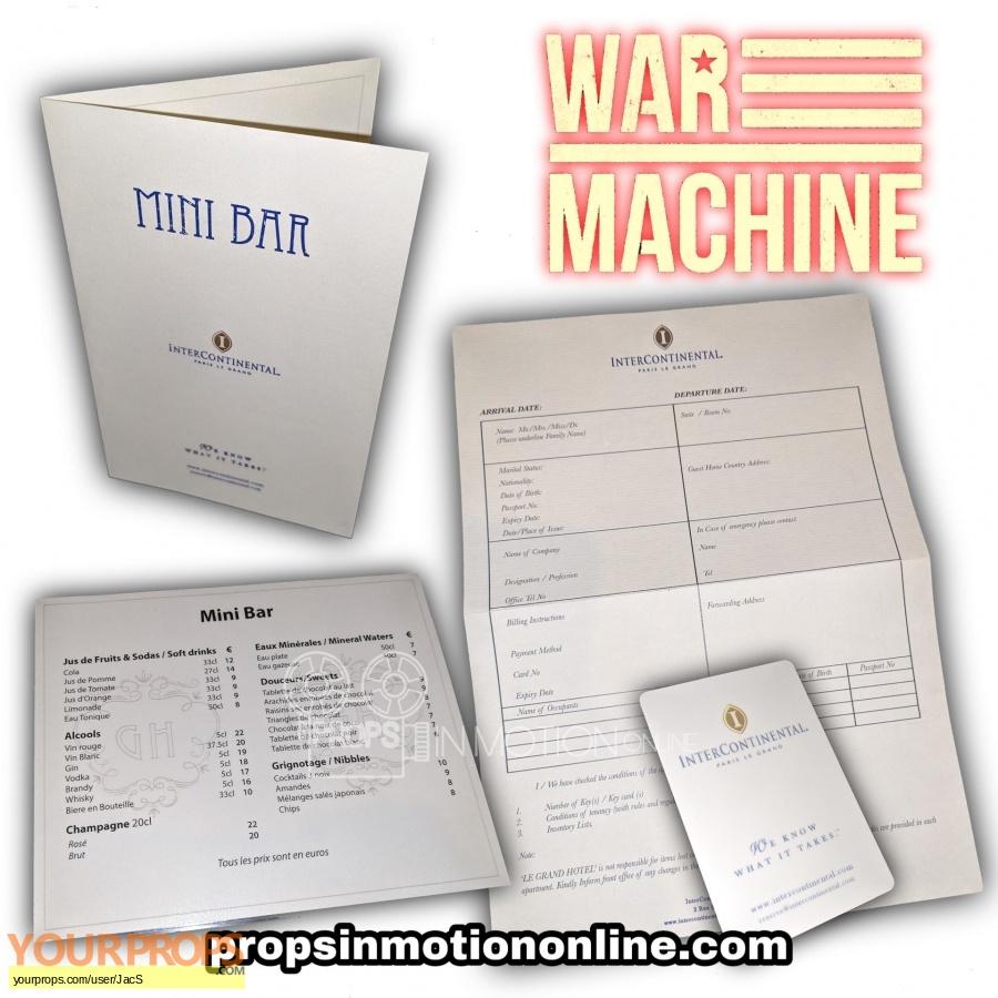 War Machine original movie prop