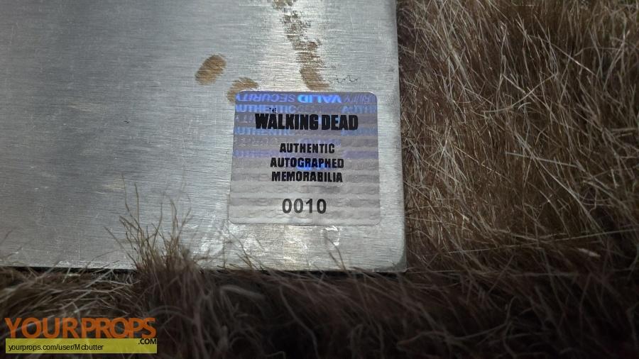 The Walking Dead original film-crew items