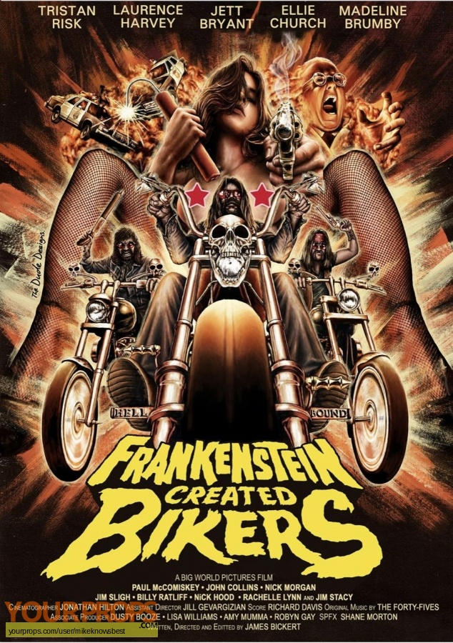 Frankenstein Created Bikers   Dear God No  original production material