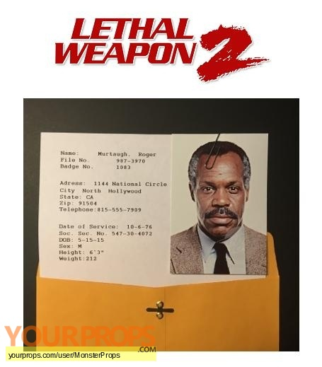 Lethal Weapon 2 replica movie prop