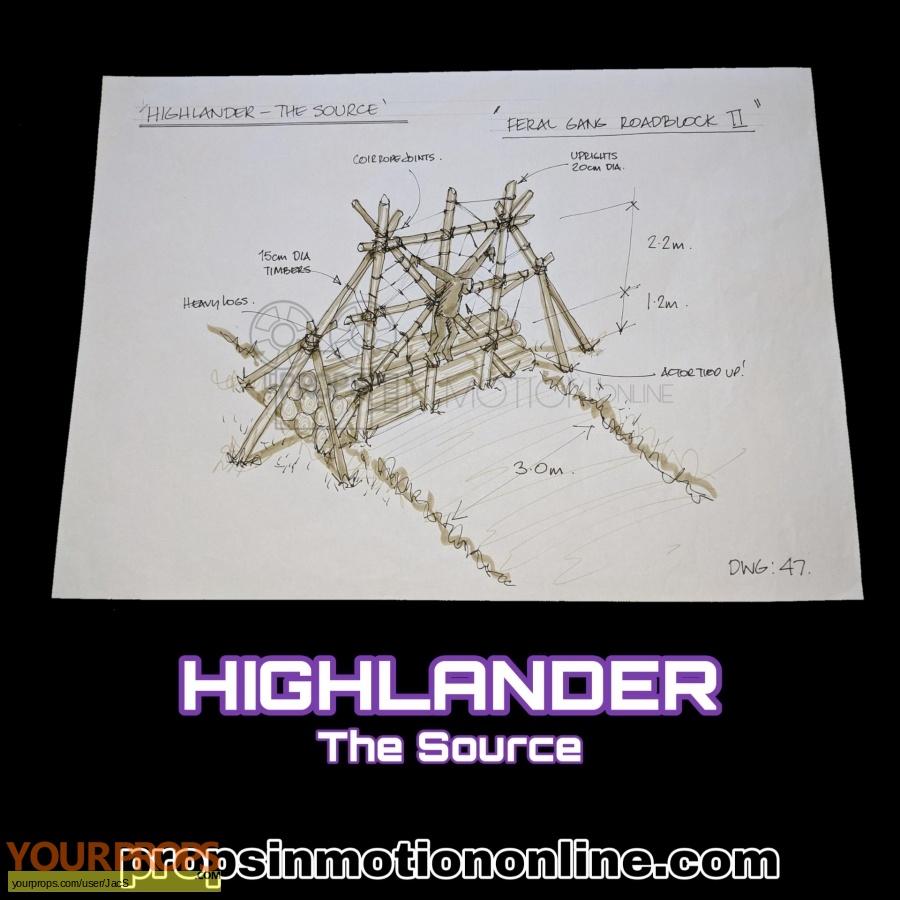 Highlander  The Source original production material