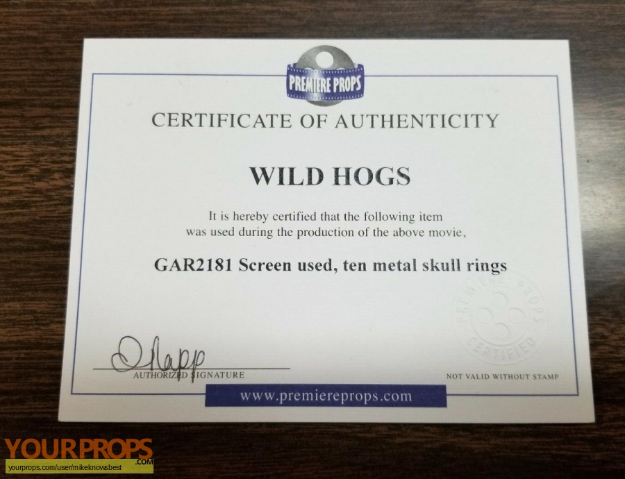 Wild Hogs original movie prop