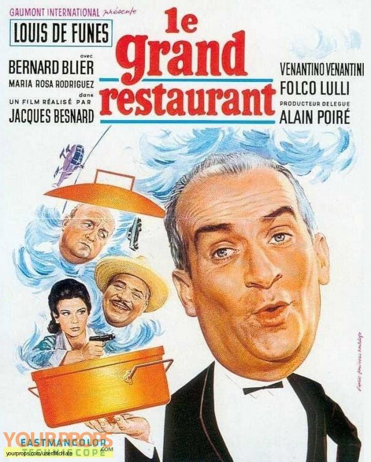 Le Grand Restaurant replica movie prop