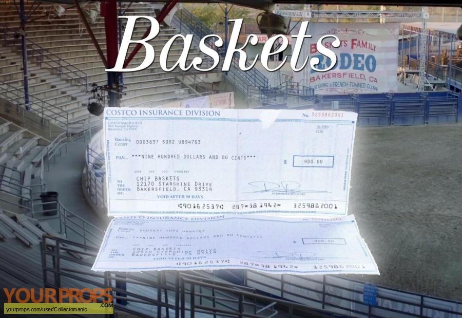 Baskets original movie prop