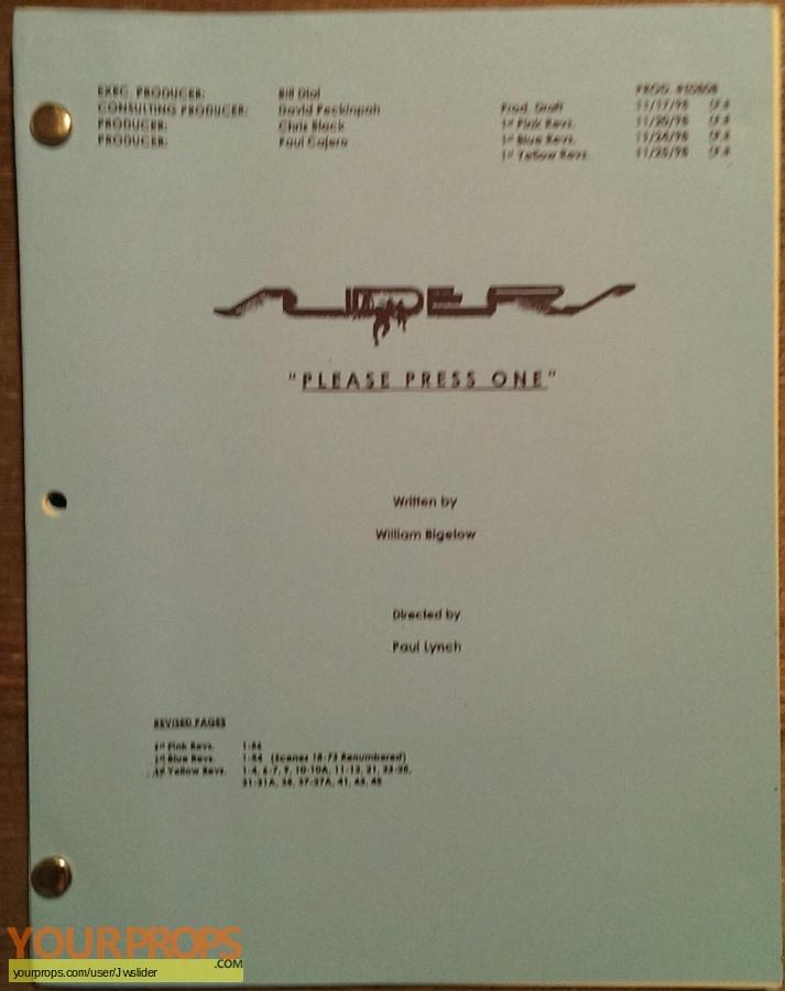 Sliders original production material