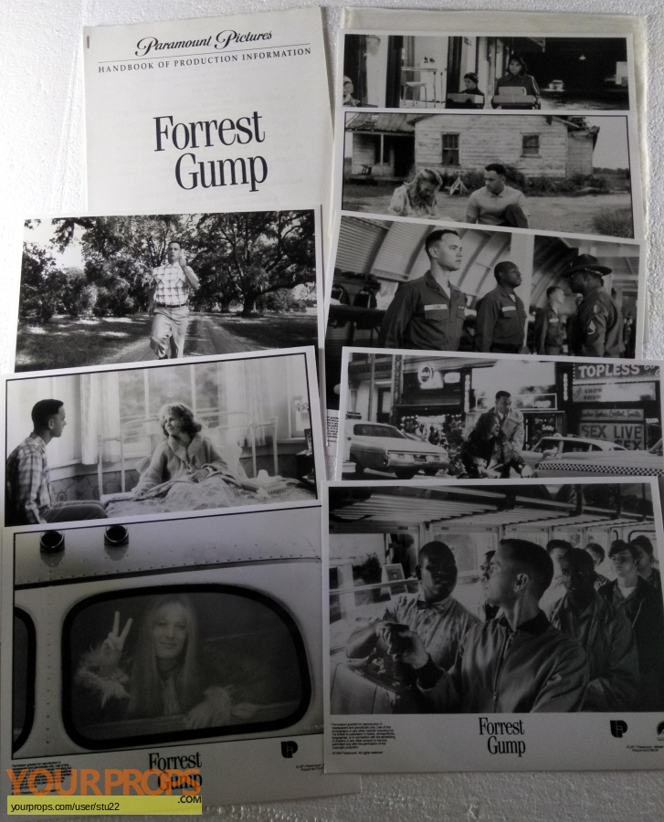 Forrest Gump original production material