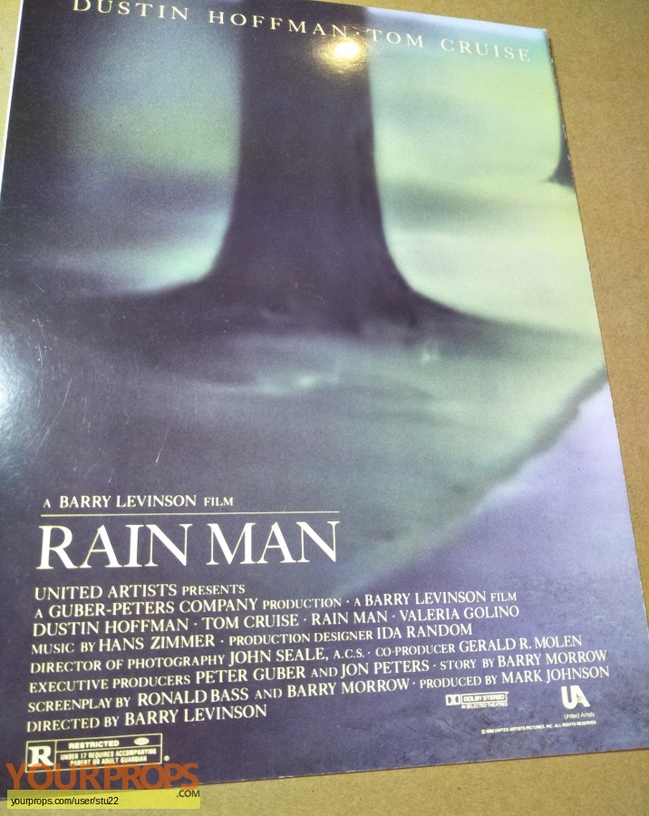 Rain Man original production material