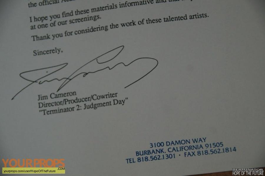 Terminator 2  Judgment Day original film-crew items