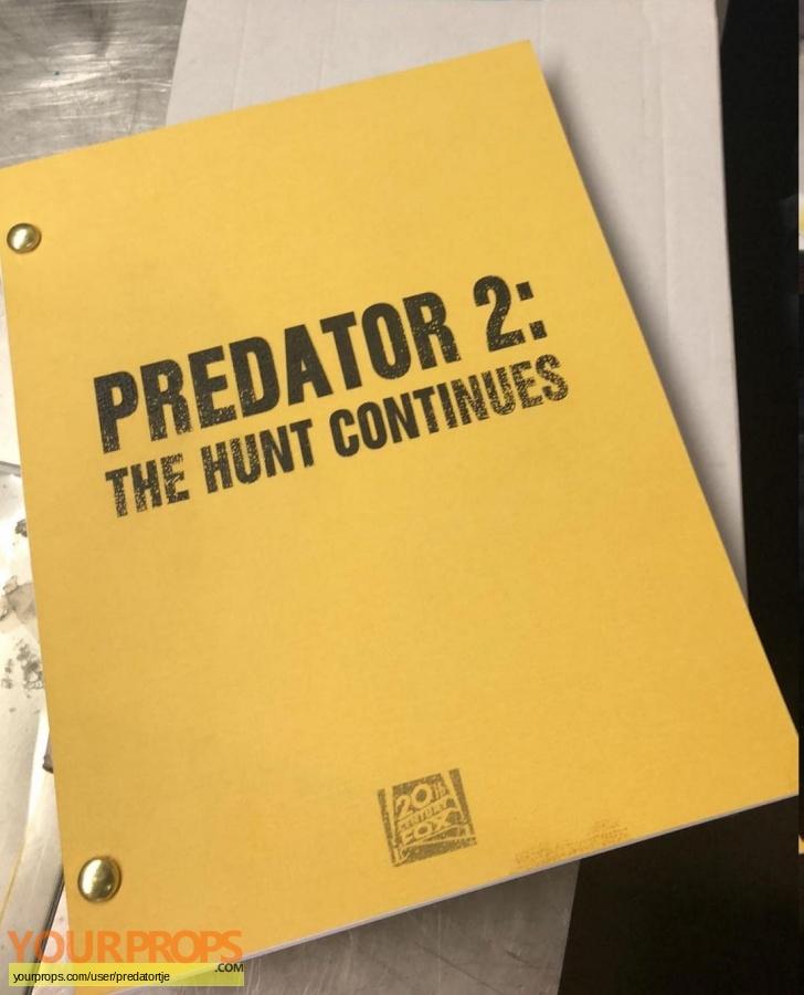 Predator 2 original production material