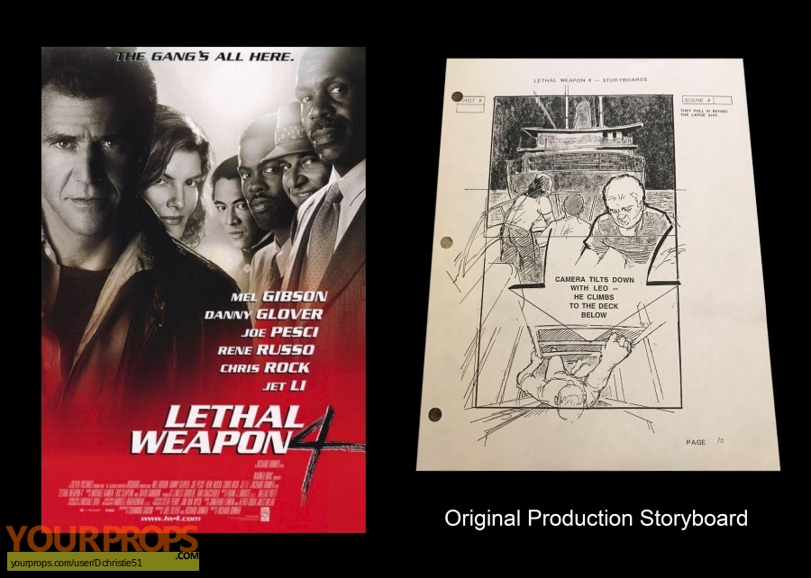 Lethal Weapon 4 original production artwork