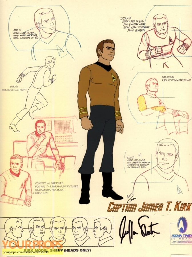 Star Trek  The Animated Series (1973-1974) replica production artwork