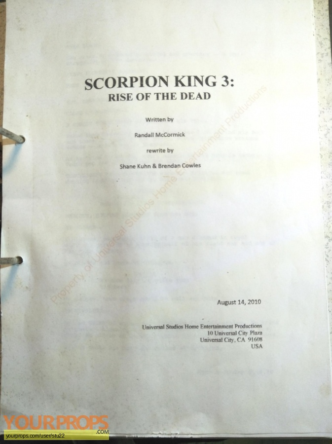 The Scorpion King 3  Battle for Redemption original production material