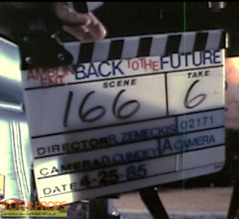 Back To The Future made from scratch production material