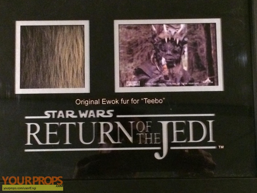 Star Wars Return of the Jedi original set dressing   pieces