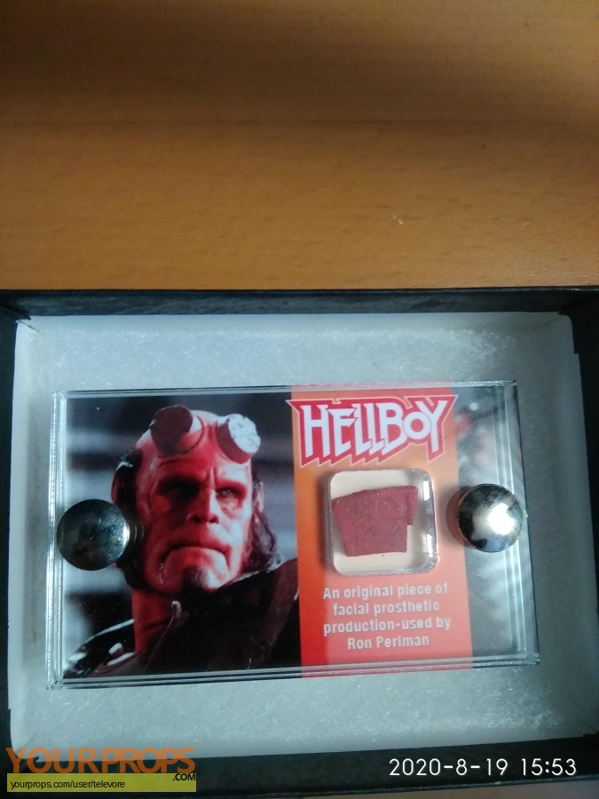 Hellboy swatch   fragment make-up   prosthetics
