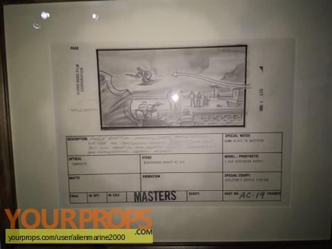 Masters of the Universe original production material