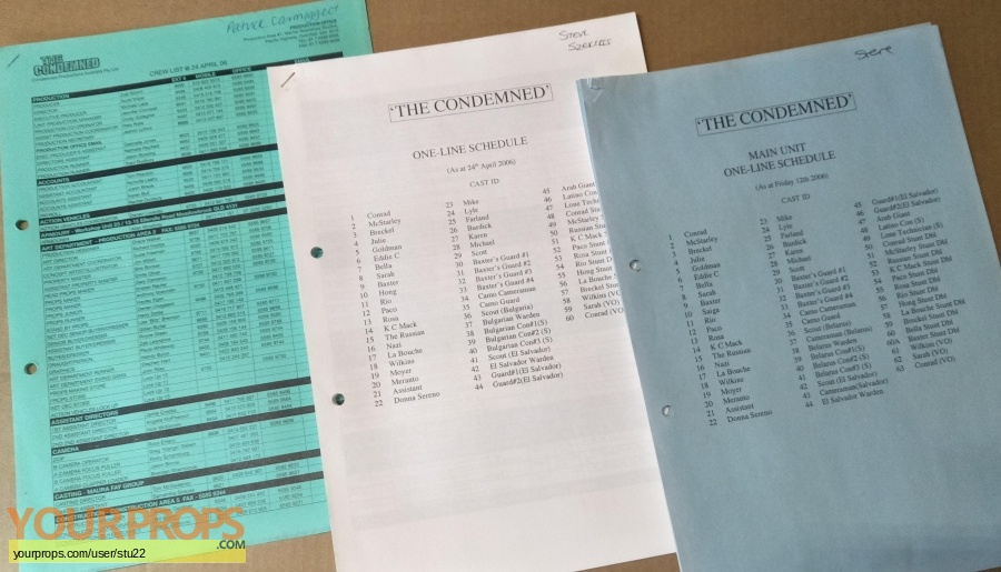 The Condemned original production material