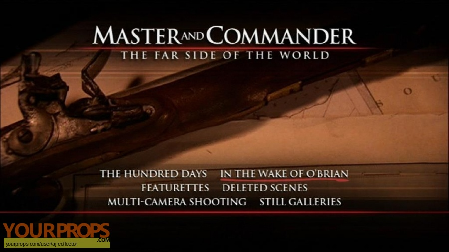Master and Commander  The Far Side of the World original movie prop