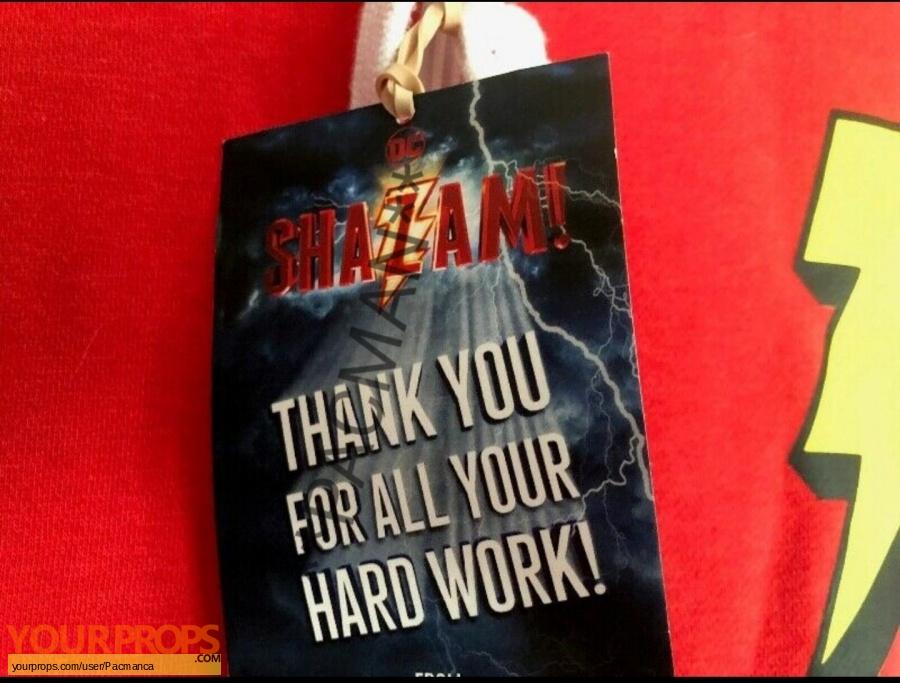 Shazam original film-crew items