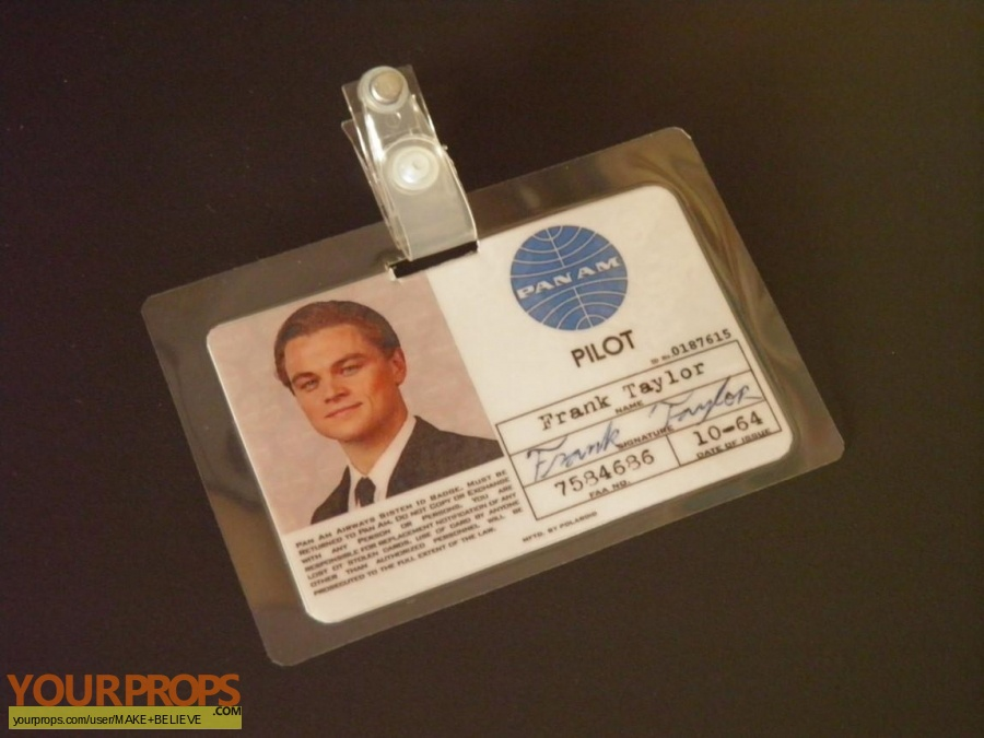 Catch Me If You Can replica movie prop