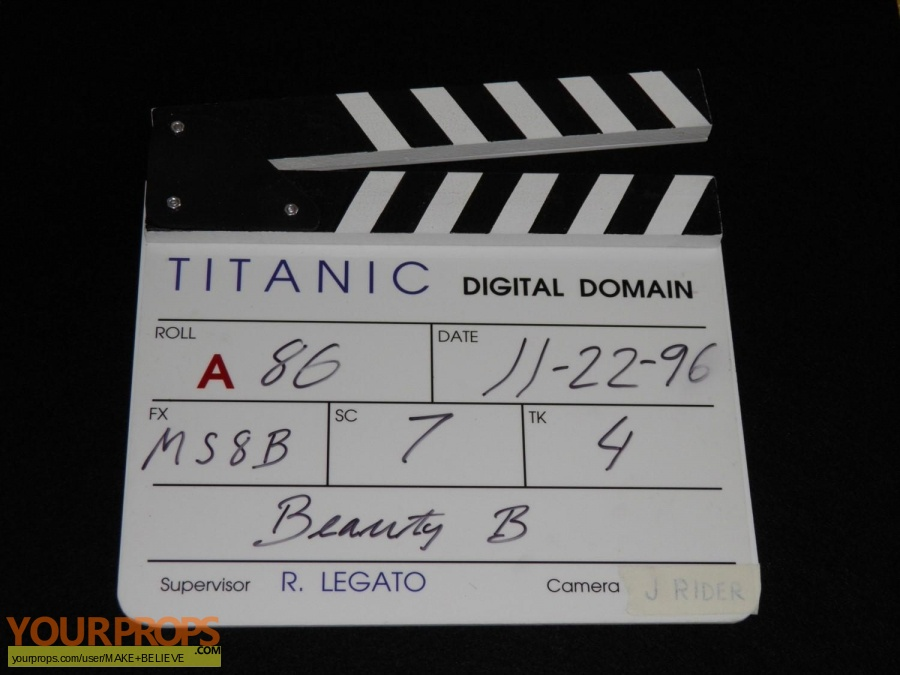 Titanic made from scratch production material