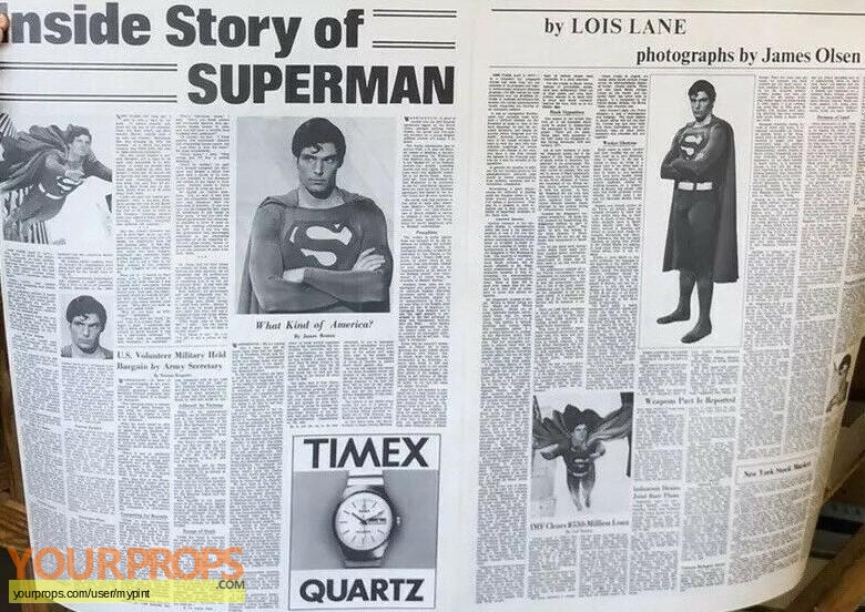 Superman the movie original movie prop