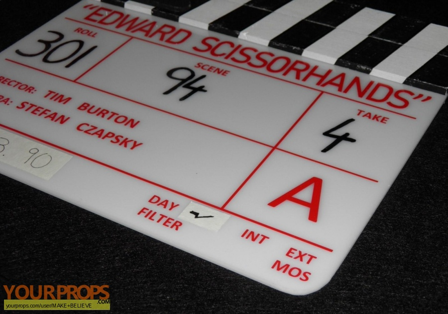 Edward Scissorhands made from scratch production material