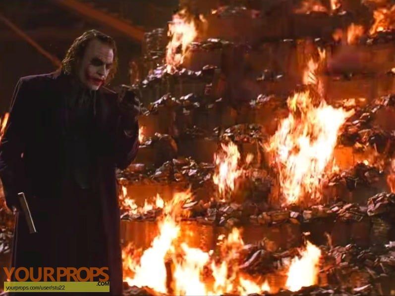 The Dark Knight original movie prop