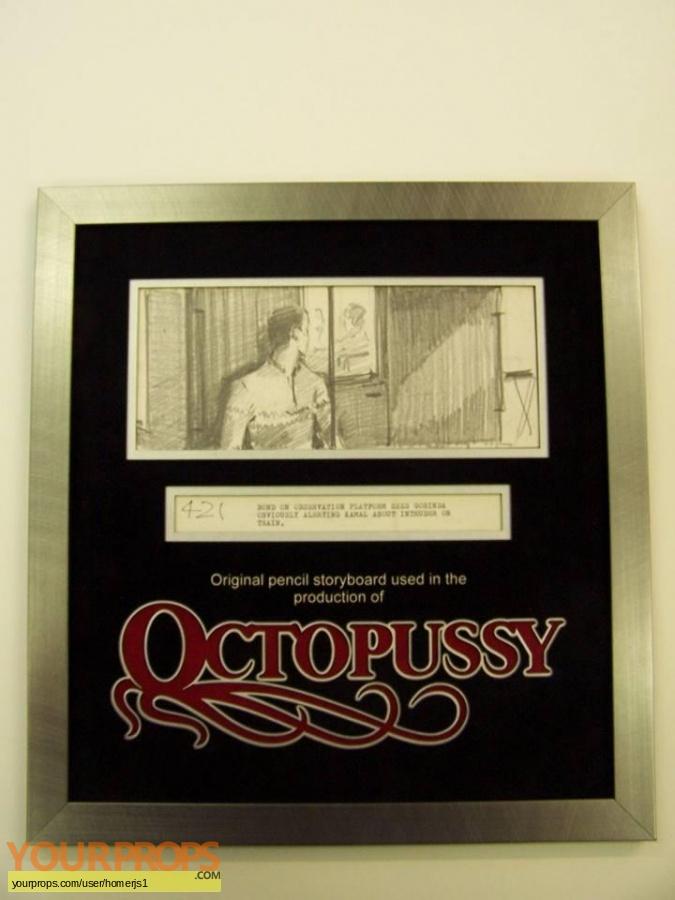 James Bond  Octopussy original production material