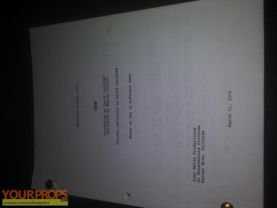Doom original production material
