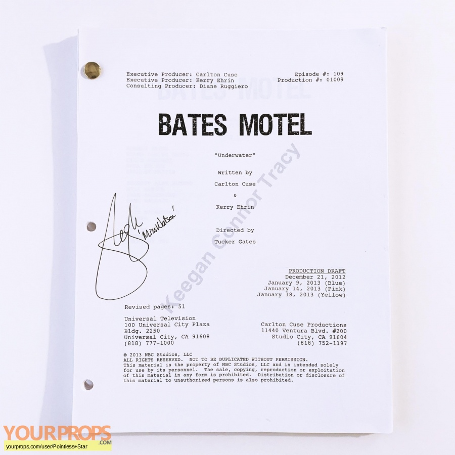 Bates Motel original production material