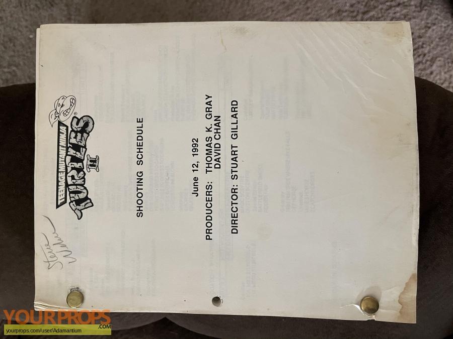 Teenage Mutant Ninja Turtles 3 original production material