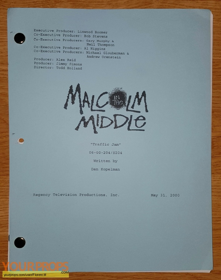 Malcolm in the Middle original production material
