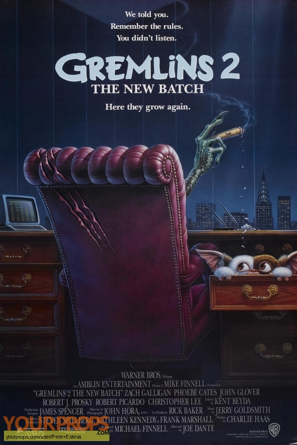 Gremlins 2  The New Batch original production material