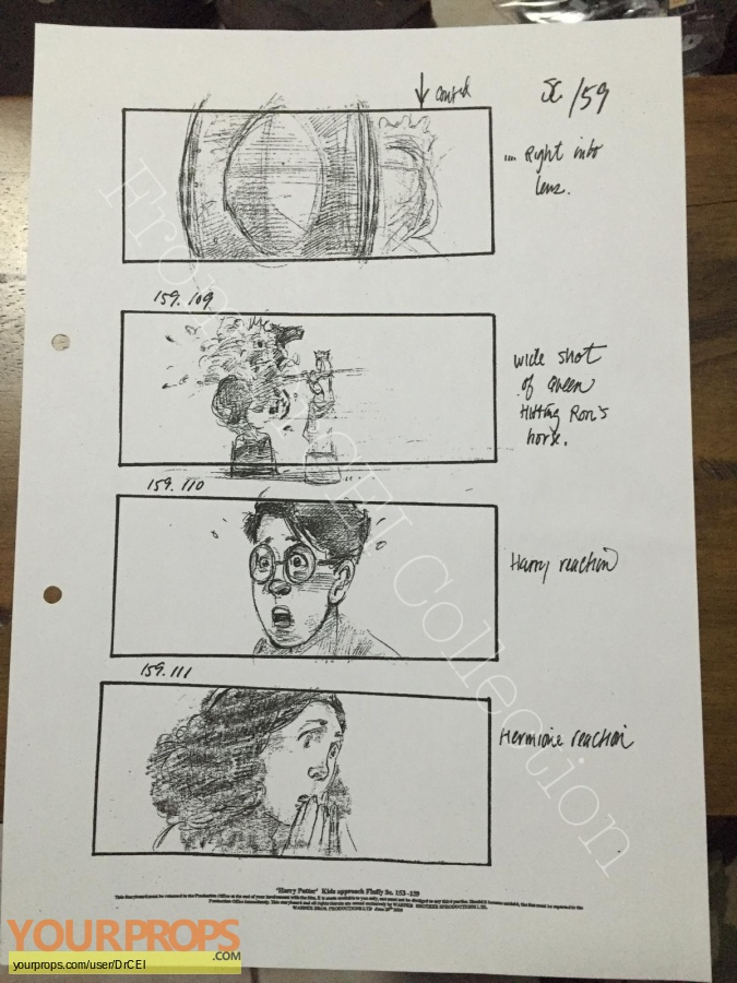 Harry Potter and the Sorcerers Stone original production artwork