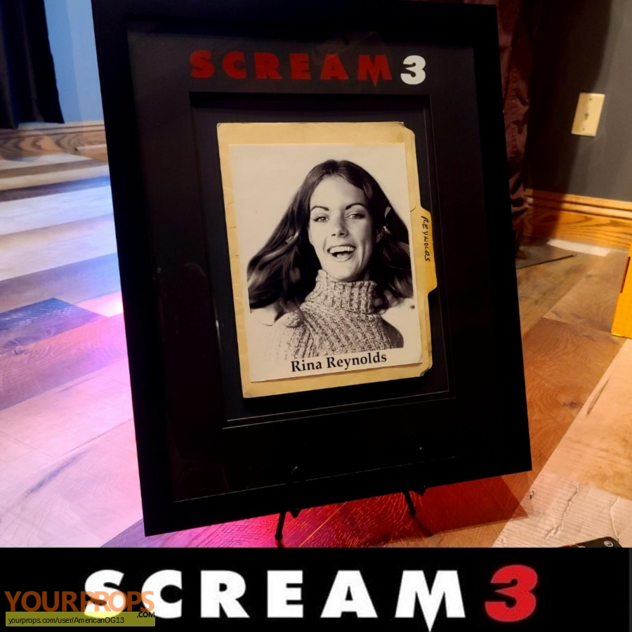 Scream 3 original movie prop
