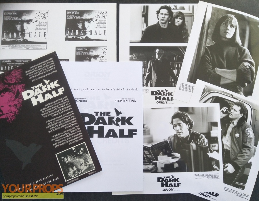 The Dark Half original production material