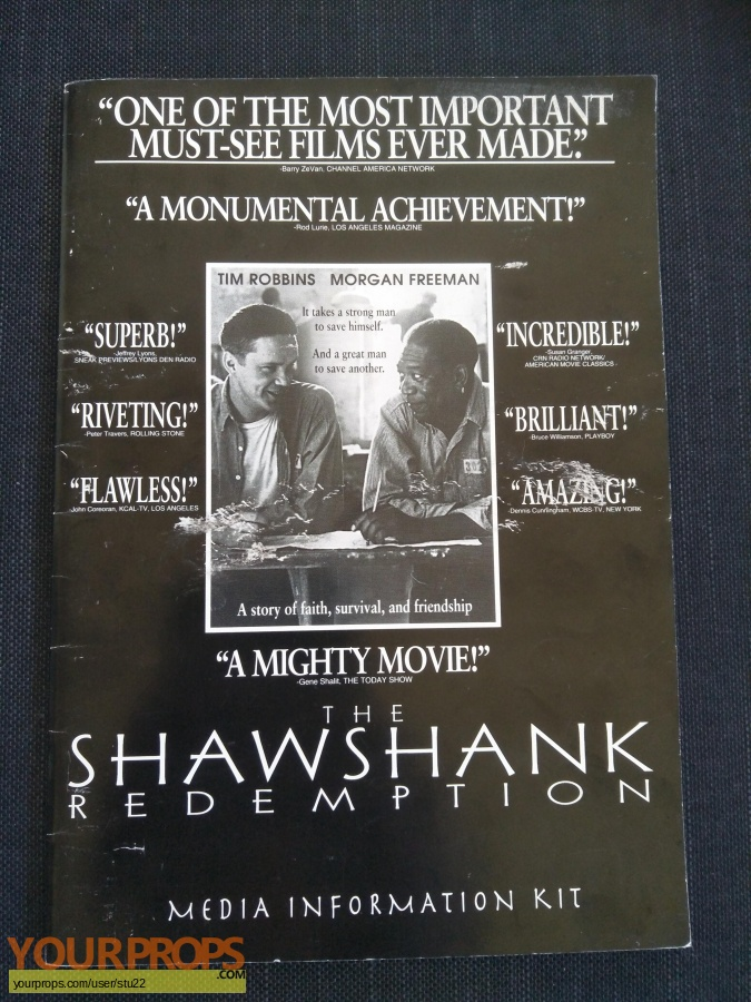 The Shawshank Redemption original production material
