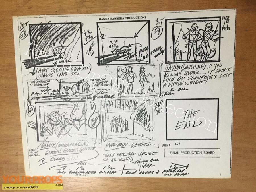 The All-New Super Friends Hour original production artwork