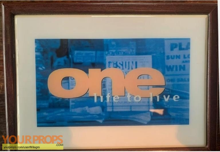 One Life To Live Sideshow Collectibles film-crew items