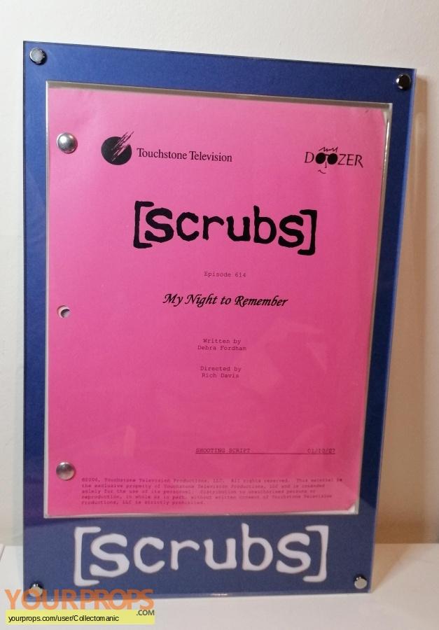 Scrubs original production material
